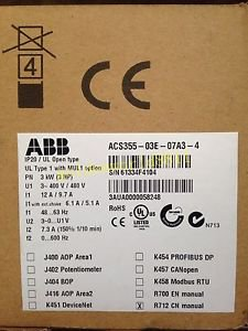 NEW ABB inverter ACS355-03E-07A3-4 380V 3KW good in condition for industry use