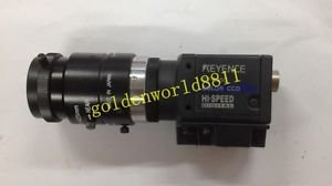 KEYENCE CCD camera CV-035C with lens good in condition for industry use