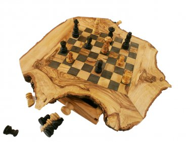 Olive Wood Chess Set / Board - Small - 11""