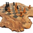 Personalized ChessBoard Custom Engraved Monogrammed Rustic Wooden Chess Set Game