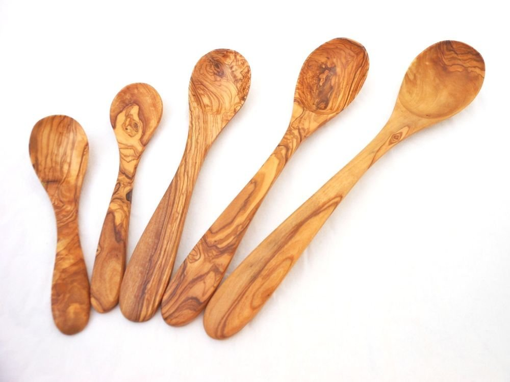 Handmade Olive wood Kitchen Utensil Set, Wooden Spoon Set, Wedding Gift