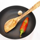 Handmade Olive Wood Medium Sauce Corner Spoon  / Kitchen Cooking Utensil
