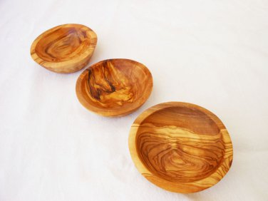 Handmade Wooden Small Rounded Bowl Set / Wooden Serving Candy Walnut Bowl Dish