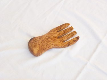 Handmade Olive Wood salad server / serving hand, Kitchen Cooking Utensils Tools