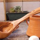Olive Wood Small Ladle, Eco Friendly Wooden Handcrafted Soup Serving Ladle Spoon