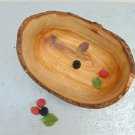 Natural Edge Rustic Wood Serving Bowl 8.4 X 6.7 X 3.6 Inches, Olive Wood Boat Sh