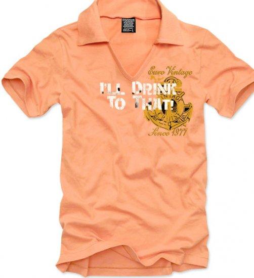V-neck short sleeve men's t-shirt - Euro Vintage