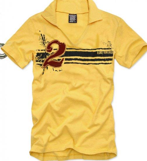 V-neck short sleeve men's t-shirt - 2