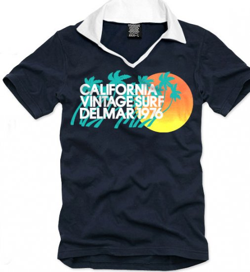 V-neck short sleeve men's t-shirt - California Vintage Surf