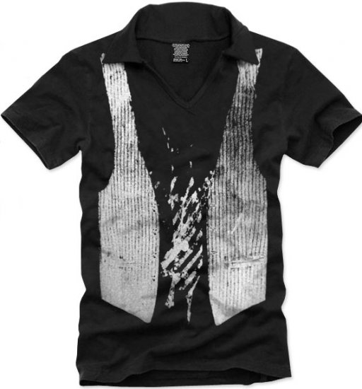 V-neck short sleeve men's t-shirt - Vest