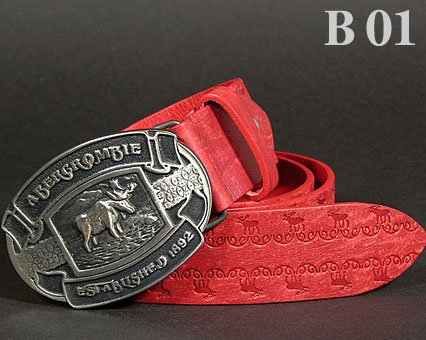 Abercrombie & Fitch Unisex Casual Genuine Leather Belt - A&F