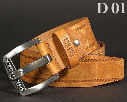 Diesel Men's Casual Genuine Leather Belt