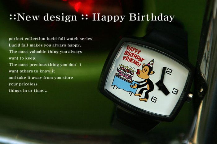 Lucid Fall Happy Birthday Unisex TV Watch
