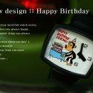 Lucid Fall Happy Birthday Unisex TV Watch