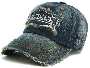 Von Dutch Cap With Emb. Signature Logo Denim Trucker Hat