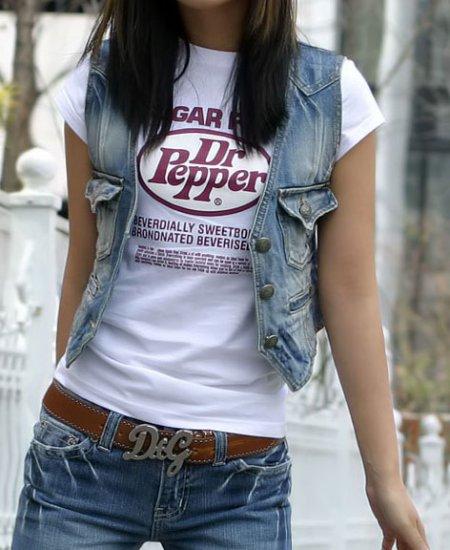 Dr. Pepper Short Sleeve Printed T-shirt For Women