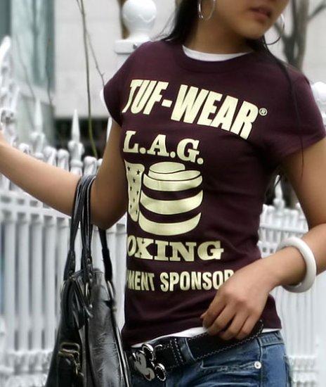 TUF-Wear Boxing Equipment Sponser Printed T-shirt For Women