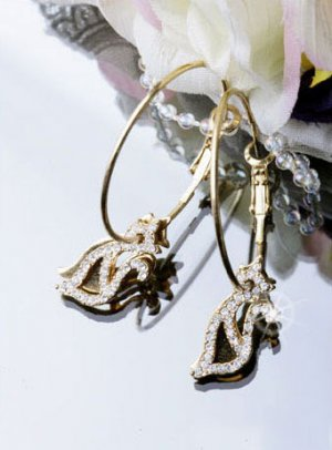 Gold Plated Cubic Zirconia Stud Sexy Cuty Cats Earrings