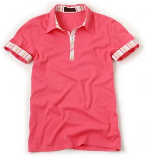 Button Point Collar Short Sleeve T-shirts For Men