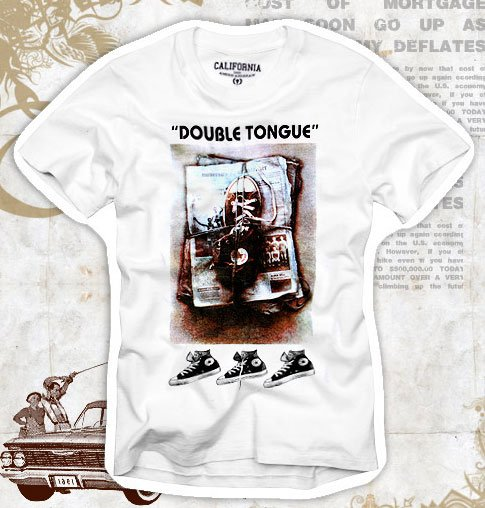 """Double Tongue"" Hollywood Vintage Style Men's T-shirt"