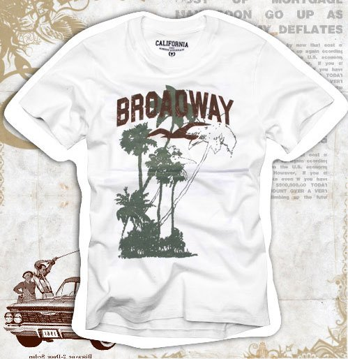 """Broadway"" Hollywood Vintage Style Men's T-shirt"