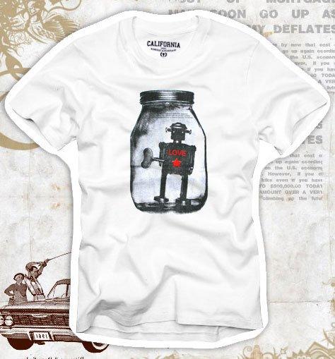 """Love Bottle"" Hollywood Vintage Style Men's T-shirt"