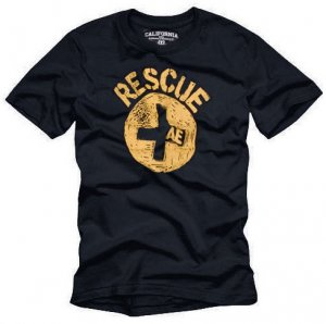 """""""RESCUE"""" Hollywood Vintage Style Men's T-shirt"""