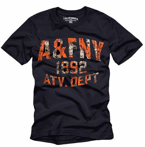 """""""A&FNY"""" Hollywood Vintage Style Men's T-shirt"""