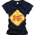 """Slippery When Wet"" New York Style Women's T-shirt"