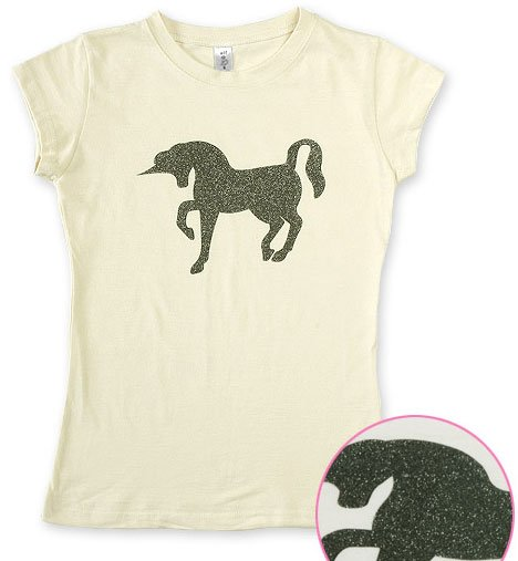 """Unicorn Pearl"" Hollywood Vintage Style Women's T-shirt"