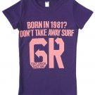"""Born in 1981"" Hollywood Vintage Style Women's T-shirt"