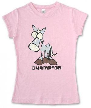 """""""Champion"""" Hollywood Vintage Style Women's T-shirt"""