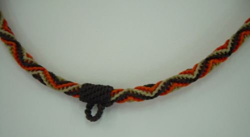 Waxed cotton cord necklace