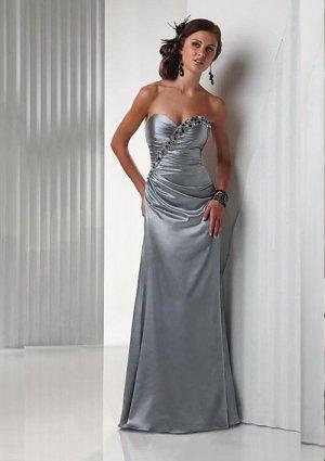 Charming Sheath Sweetheart Floor-Length Charmeuse Cheap Evening Dresses