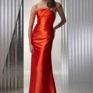 Sheath Strapless Charmeuse Cheap Evening Dresses