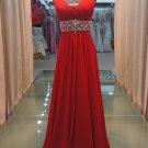 Simple new V-neck glass diamond belt elegant evening dresses