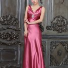 Pink the new V-neck elegant evening dresses