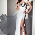 White One Shoulder Floor-length Evening Dresses