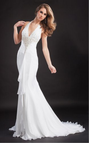 Fashion Sheath Floor-length Halter Dresses