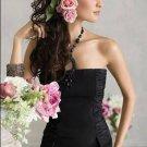 A-Line V-neck Chiffon Charmeuse Evening Dresses 2012