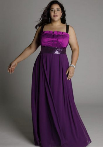 plus size evening dress Estrella Gown in Hyacinth Violet