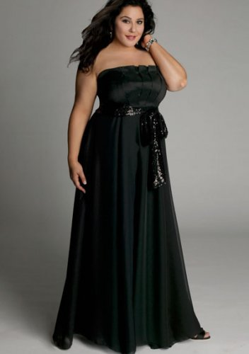 plus size evening dress Estrella Gown in Black