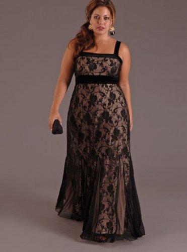 Sexy Black Plus Size Evening Dresses
