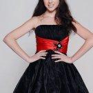 Black Strapless Tulle Skirt Satin Net Sexy Prom Dresses