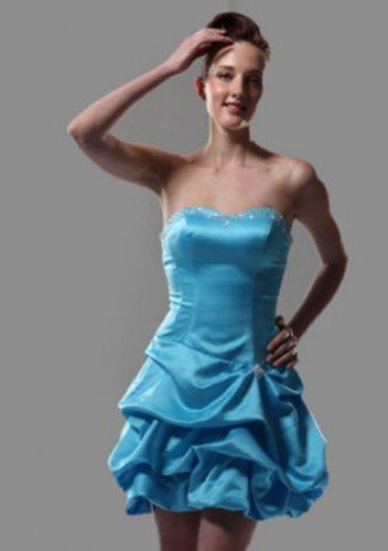 A-line Sweetheart Short/ Mini Satin Short Prom Dresses