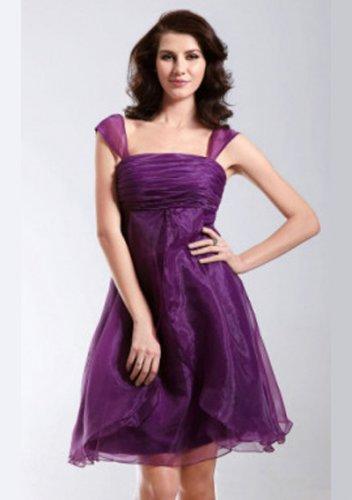 Square Neckline Organza Short Prom Dresses