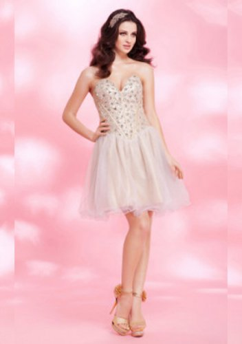 A-line Sweetheart Knee-length Elastic Short Prom Dresses