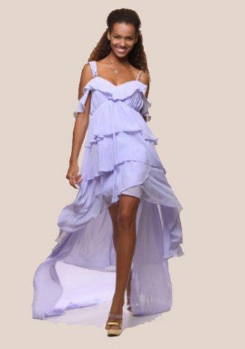 High Low Chiffon A-line Short Prom Dresses
