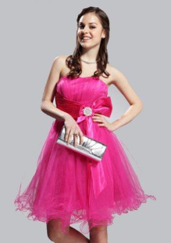 A-line Strapless Short/ Mini Satin Short Prom Dresses