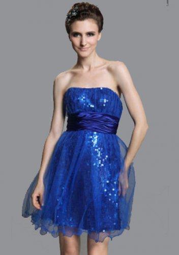 Short/ Mini Sleeveless Elastic Short Prom Dresses